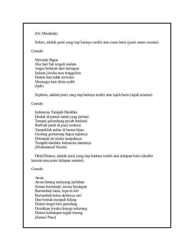Contoh Puisi Terzina : contoh, puisi, terzina, Kumpulan, Contoh, Puisi, Terbaik