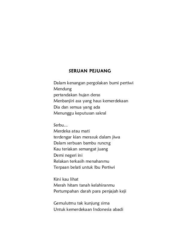 Puisi Kemerdekaan 4 Bait : puisi, kemerdekaan, Puisi, Kemerdekaan, Indonesia