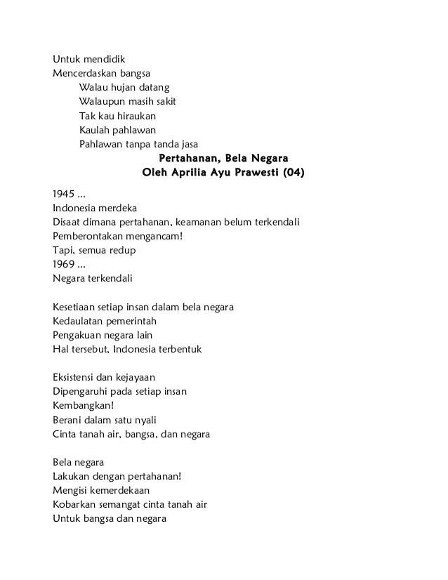 Puisi Pendek Cinta Tanah Air Puisi Indonesia Lengkap Dubai Burj Khalifas