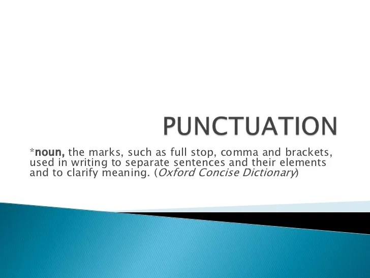 such as punctuation