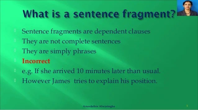 Punctuation rules - run on sentences. comma splices and sentence fra…