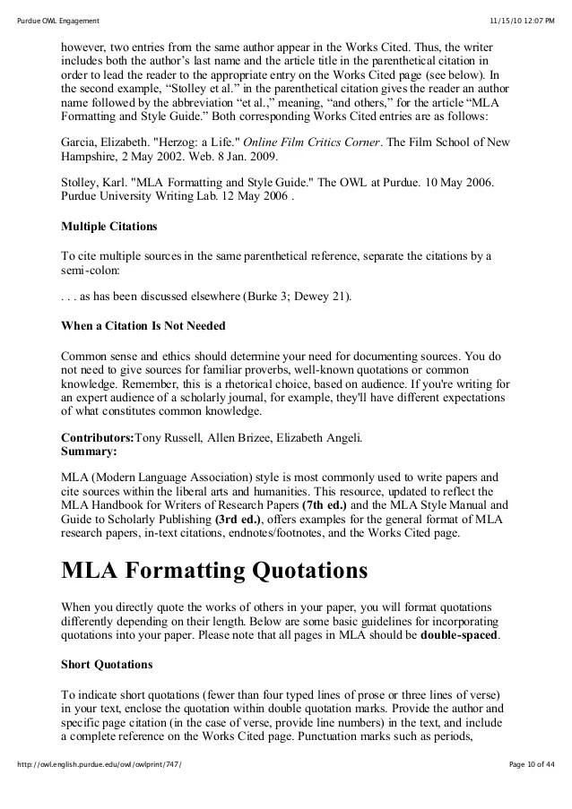 MLA Guide