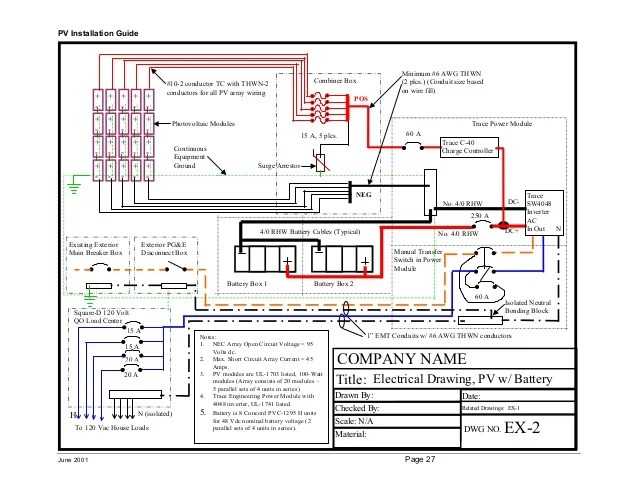 pv array wiring diagram dolphin food chain pvdepot.com solar installation guide