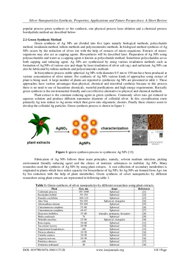 Silver Nanoparticle Synthesis Thesis Term Paper Academic Service