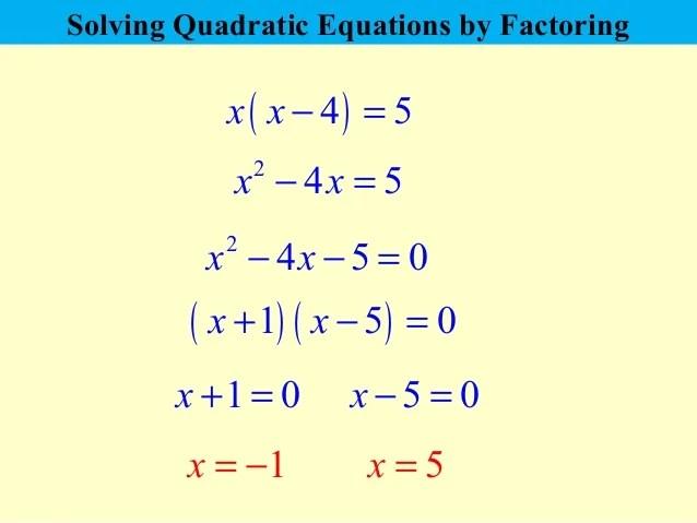 quadratic equations that factorise