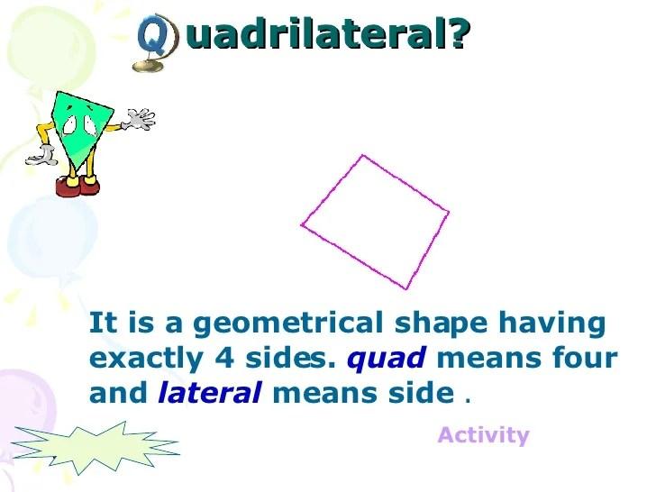 Shape 4 Sides Opposite Sides Equal 2 Sets Parallel Sides