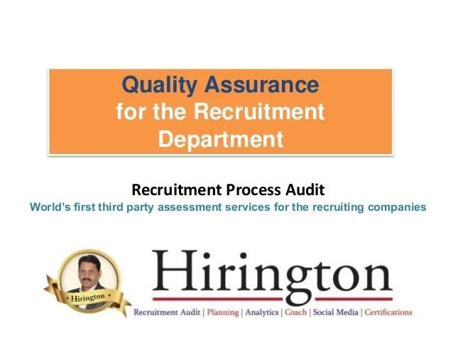 Quality Assurance Audit For Recruitment Companies