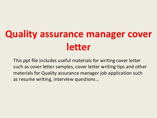 example of quality assurance manager resume