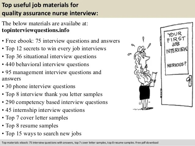 Quality assurance nurse interview questions