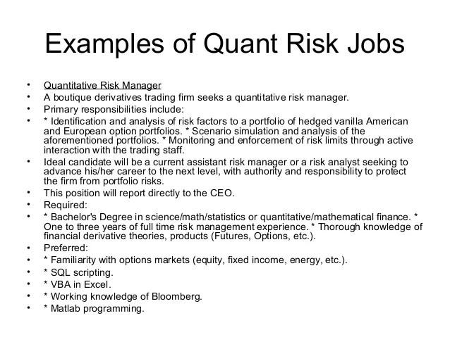 quant analyst sample resume