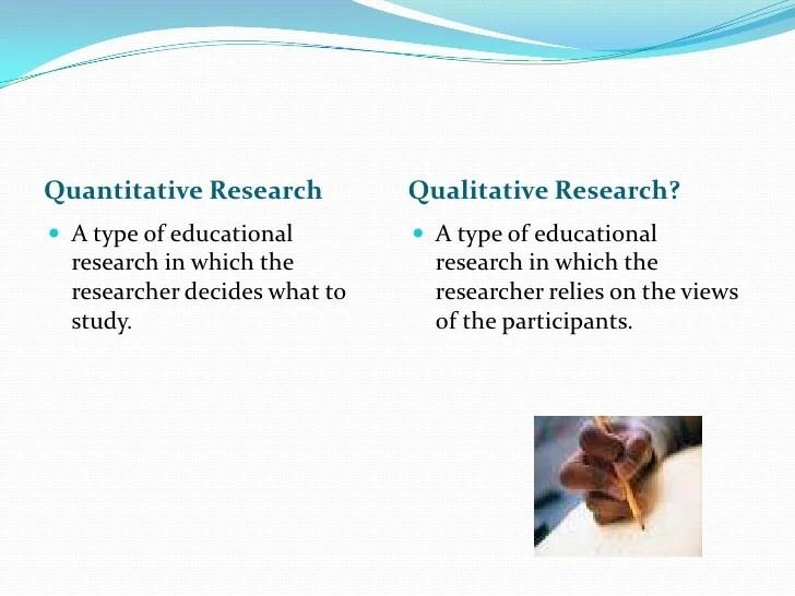 Quantitative And Qualitative Research