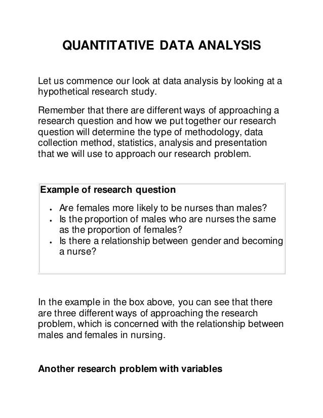 Nursing Research Problem Statement Examples