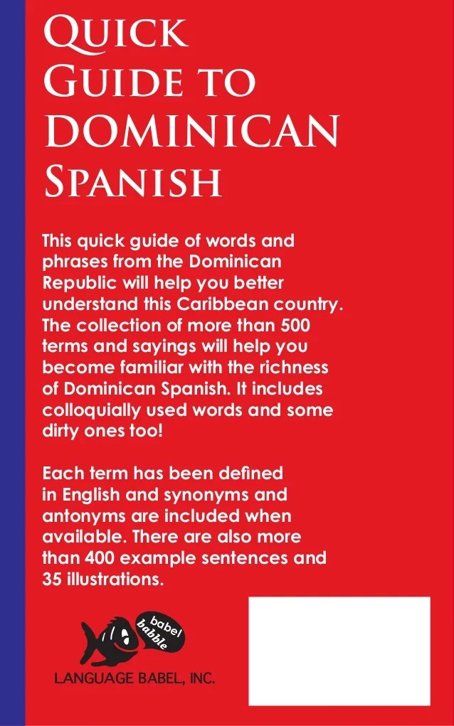 Quick Guide To Dominican Spanish Book Preview