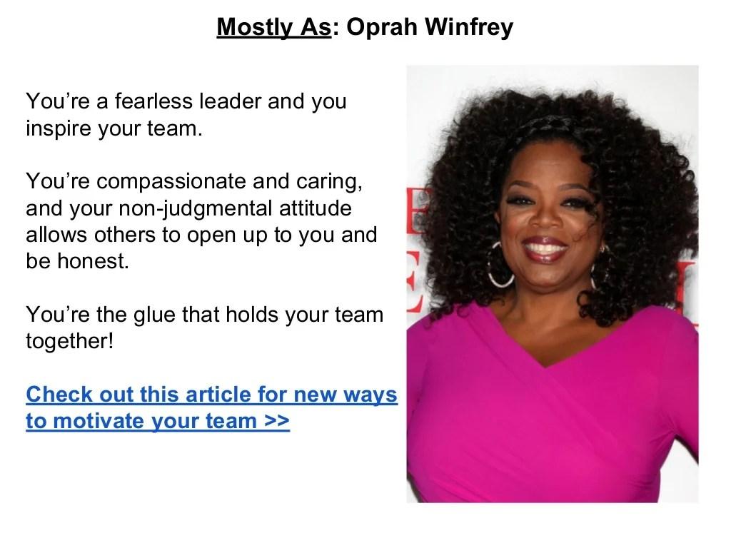 Mostly As Oprah Winfrey You Re