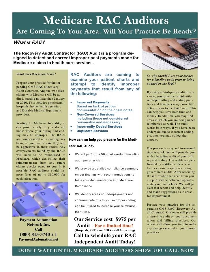 Rac audit flyer