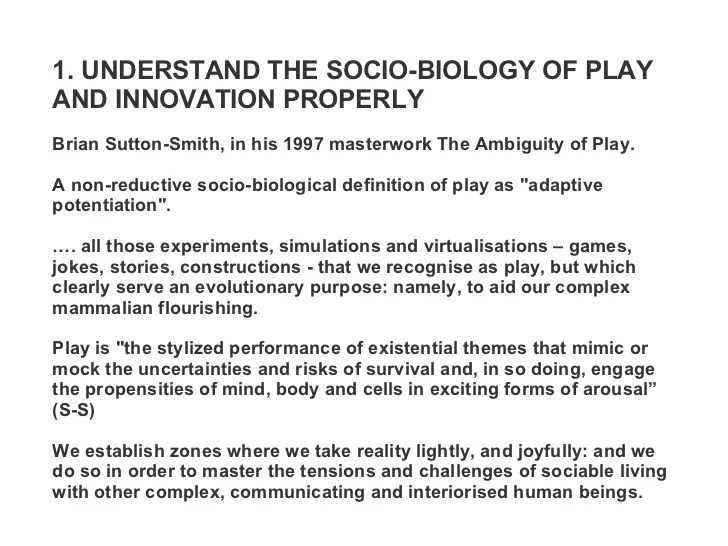 Radical Animal Play Innovation Sustainability Human Nature