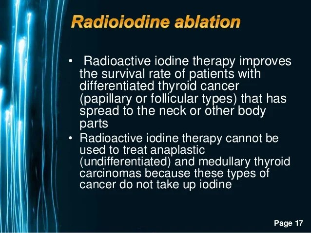 Postoperative Radioiodine Ablation in Thyroid Cancer