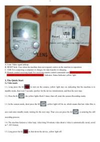 Shower Radio with mirror camera user guide.Spy radio ...
