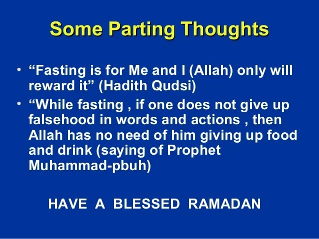 Ramadan fasting and muslim patients