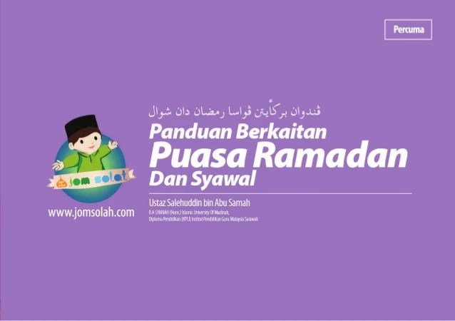 Panduan Berkaitan Puasa Ramadan Dan Syawal
