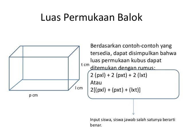 If playback doesn't begin shortly, try restarting your device. Luas Permukaan Kubus dan Balok