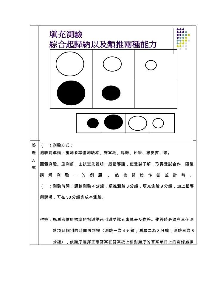 教測專題(圖文式智力測驗)
