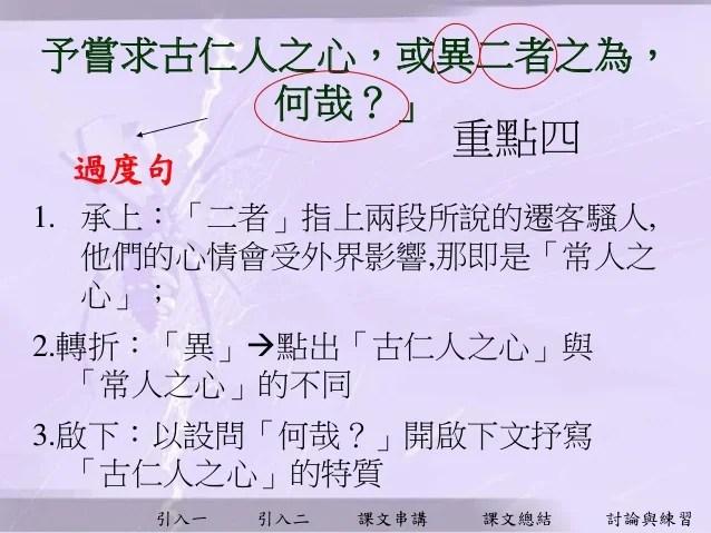 單元十 佈局與謀篇 - 岳陽樓記 課文分析