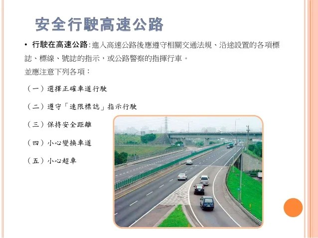 高快速公路管制規則