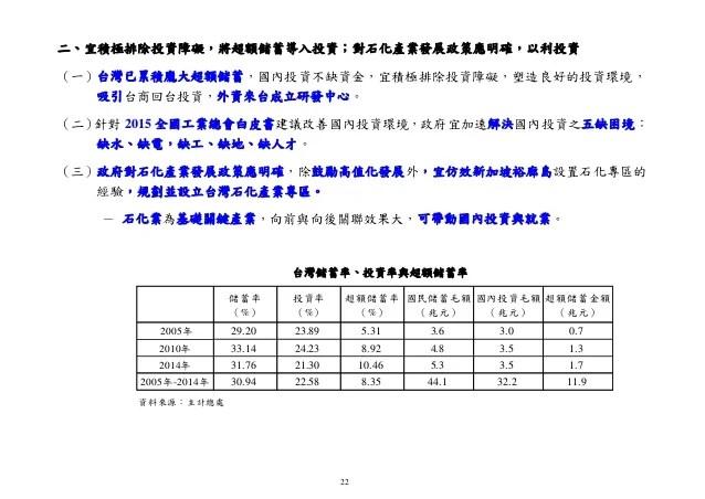 20150820彭總裁的報告:《當前臺灣經濟成長動能減緩原因與對策》