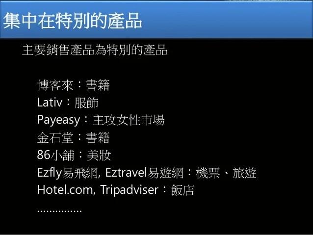 電子商務:購物網站類型