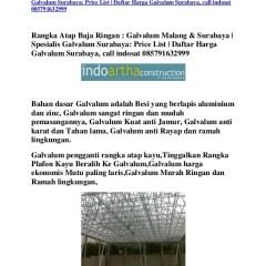 Harga Rangka Atap Baja Ringan Di Malang Galvalum Surabaya Spesialis G