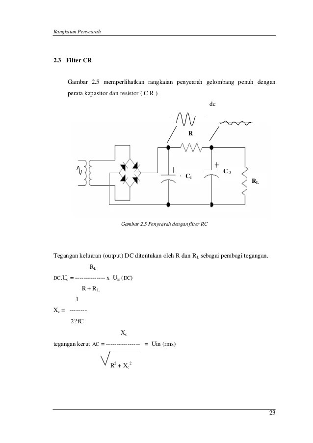 Rangkaian Penyearah Gelombang Penuh Dengan Filter Kapasitor : rangkaian, penyearah, gelombang, penuh, dengan, filter, kapasitor, Rangkaian, Penyearah