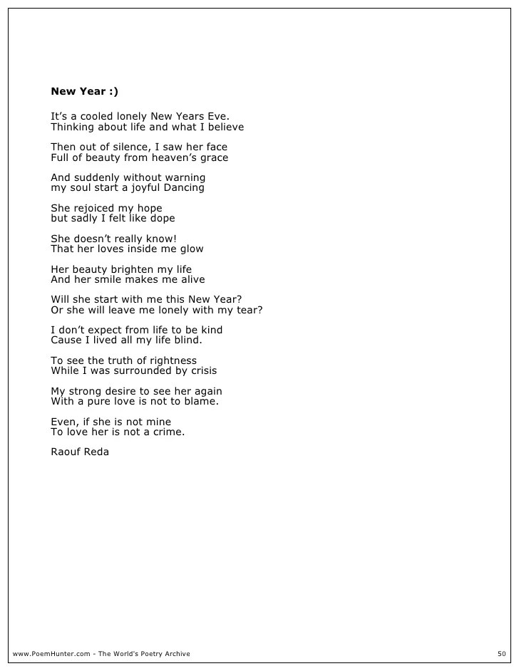New Year S Eve Love Poems | Poemdoc.or