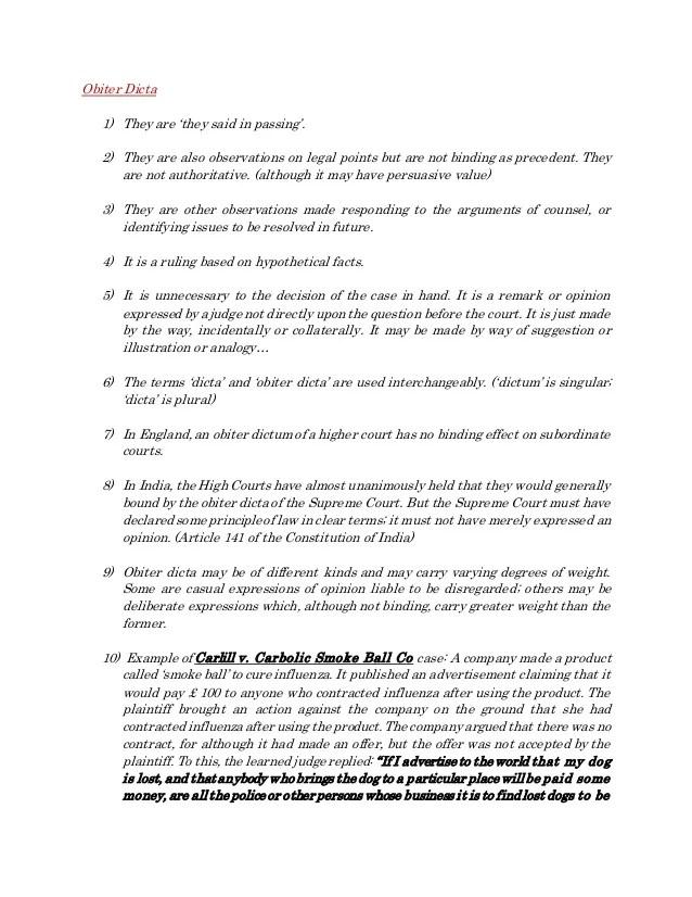 ? Ratio and obiter. Ratio Decidendi and Obiter Dictum Essay Example for Free. 2019-01-07