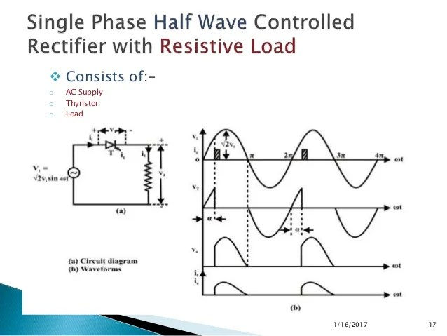 Phase Half Wave Rectifier On Half Wave Rectifier Circuit Schematic