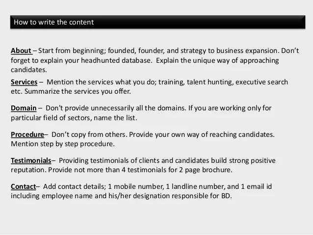 recruitment brochure sample brochure design