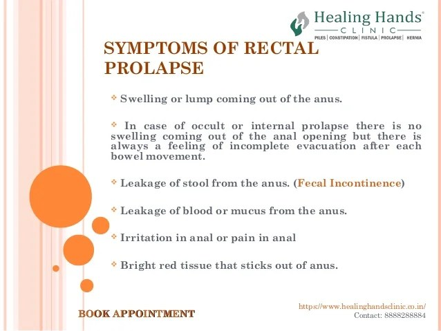 Rectal Prolapse- Causes Symptoms and Treatment