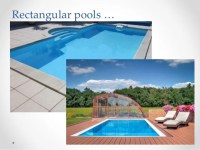 Rectangular pool designs for big backyards