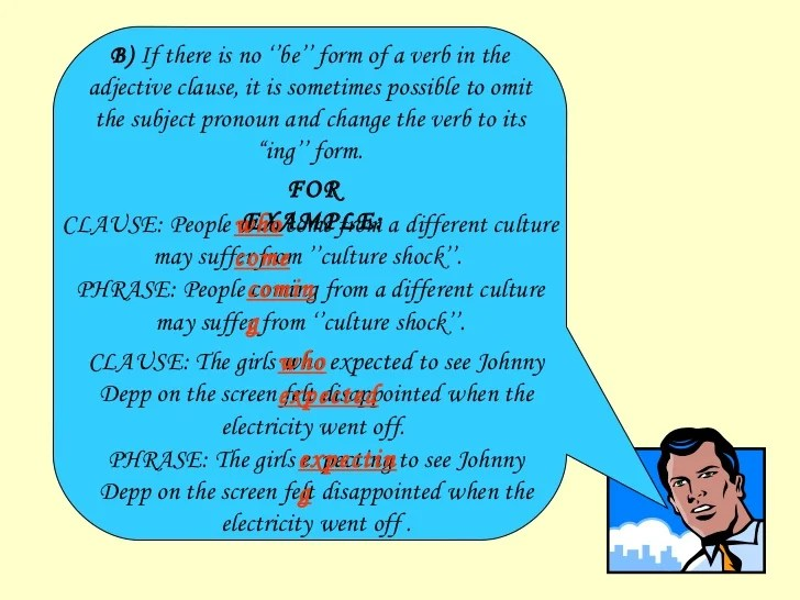 Reduced Relative Clauses Exercises