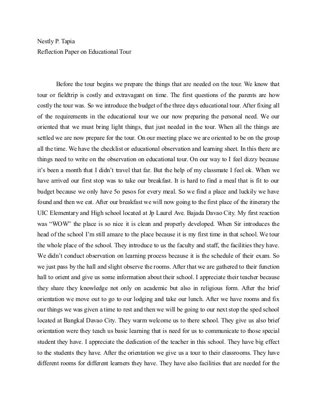 Personal Reflection Paper Apa Style Research Paper Service