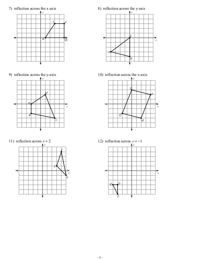 Reflections Worksheet Answers : reflections, worksheet, answers, Reflections, Worksheet1student