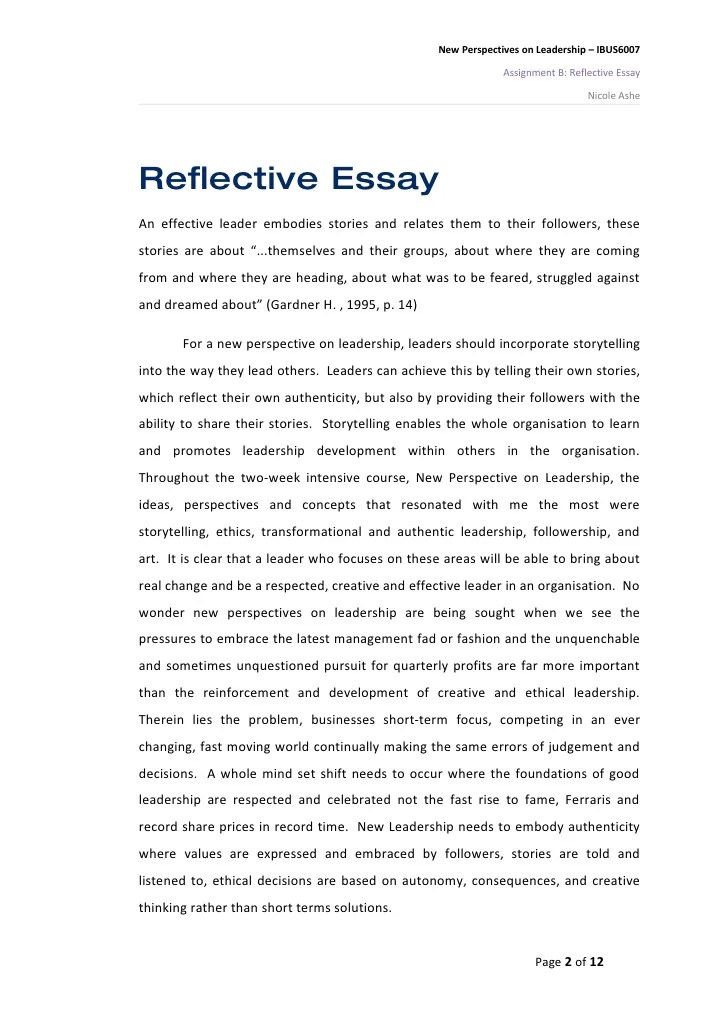 research paper example mla leadership