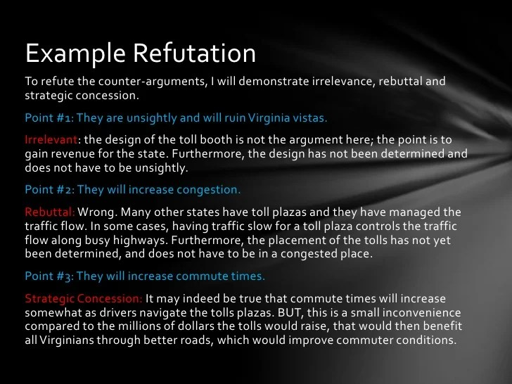 Refutation Essay Example Refuting An Argument Or Counter Argument