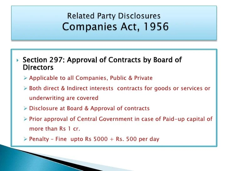 Related Party Transactions Disclosure  Transparency