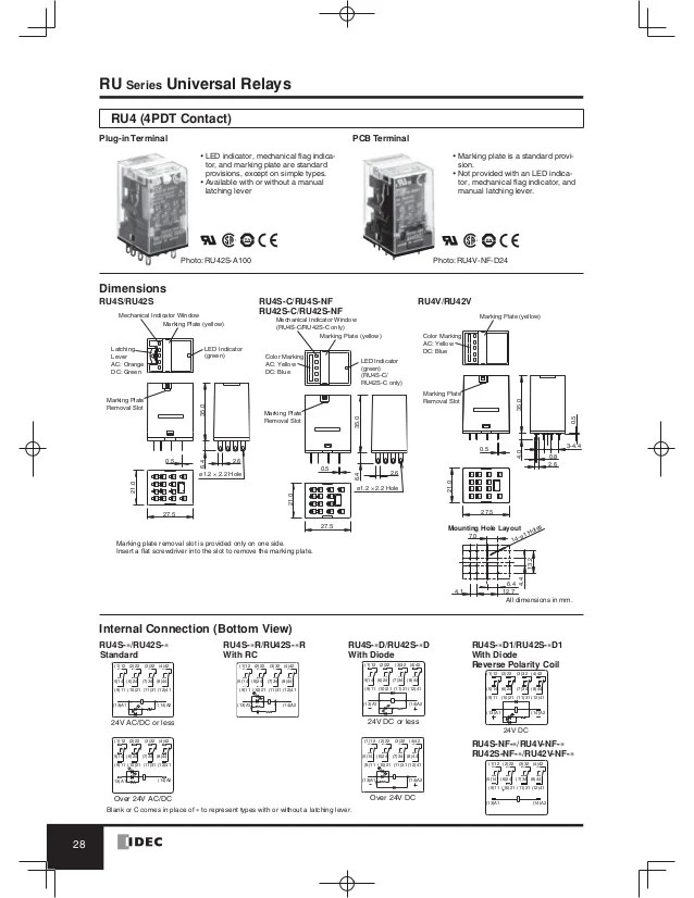 Rh2b U Relay Wiring Diagram Relay Circuit Diagram Wiring