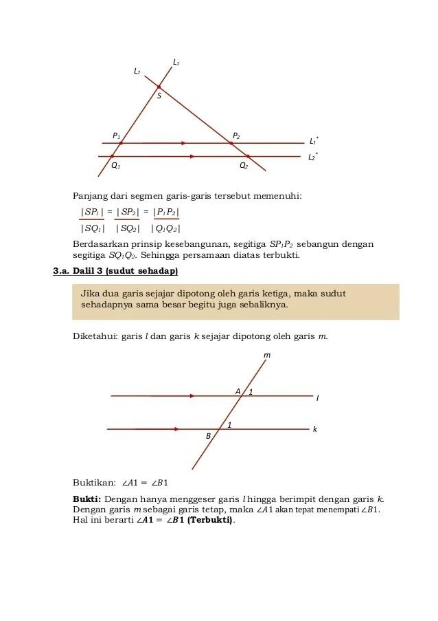 Contoh Sudut Sehadap : contoh, sudut, sehadap, Remedial, Ulangan, Harian, Geometri, Matematika, Peminatan