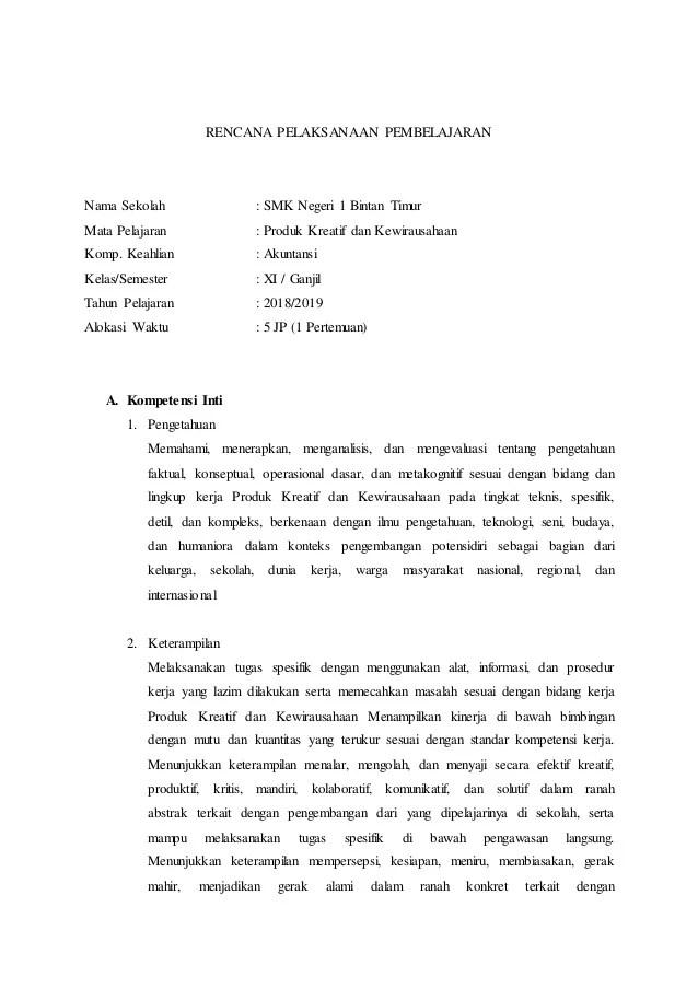 Rpp Prakarya Dan Kewirausahaan Smk Kelas Xii Kurikulum 2013 : prakarya, kewirausahaan, kelas, kurikulum, Produk, Kreatif, Kewirausahaan, Kelas, IlmuSosial.id