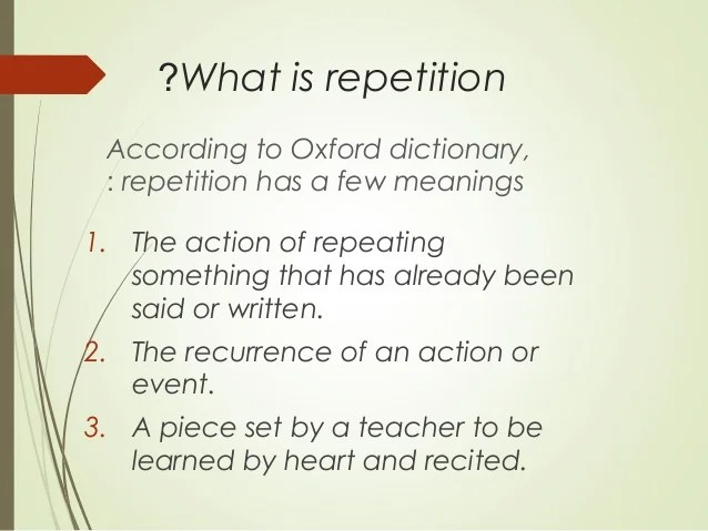 Repetition Presentation