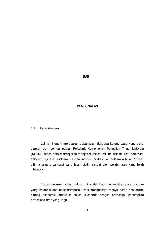 Contoh Report Latihan Industri Otosection
