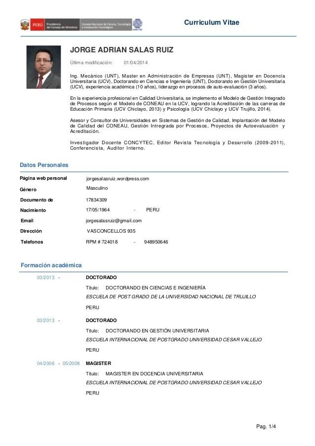 Curriculum Vitae Word Peru Sample Customer Service Resume